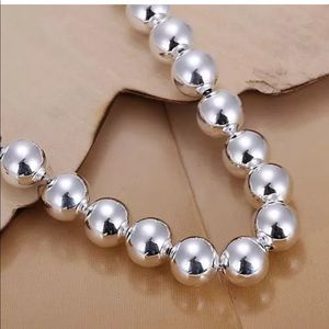 Jewelry - NWOT Polished Silver Bead Bracelet 10mm 8mm